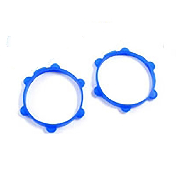 Fastrax 1/8Th Rubber Tyre Bands Blue (2 Per Pack)
