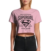 Supergirl - Stronger Faster Women's Small Crop Top - Pink