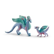 Schleich Bayala Blossom Dragon Mother and Baby Figures