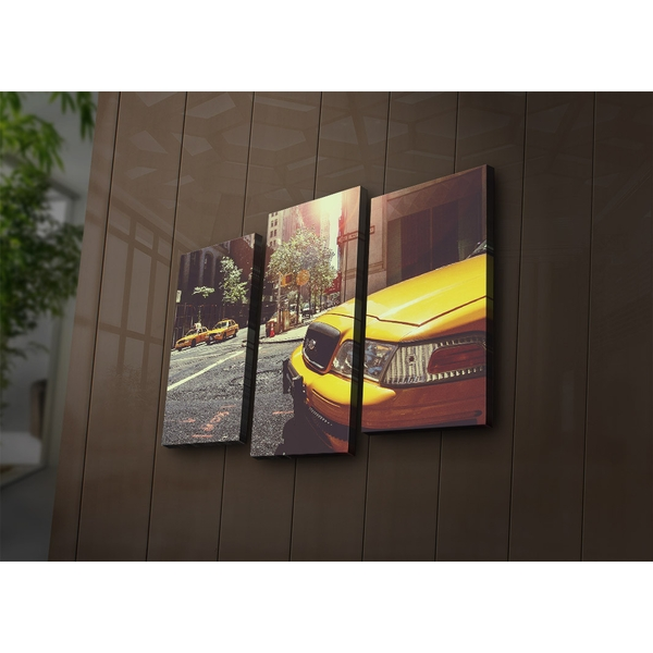 3PAT?ACT-22 Multicolor Decorative Led Lighted Canvas Painting (3 Pieces)