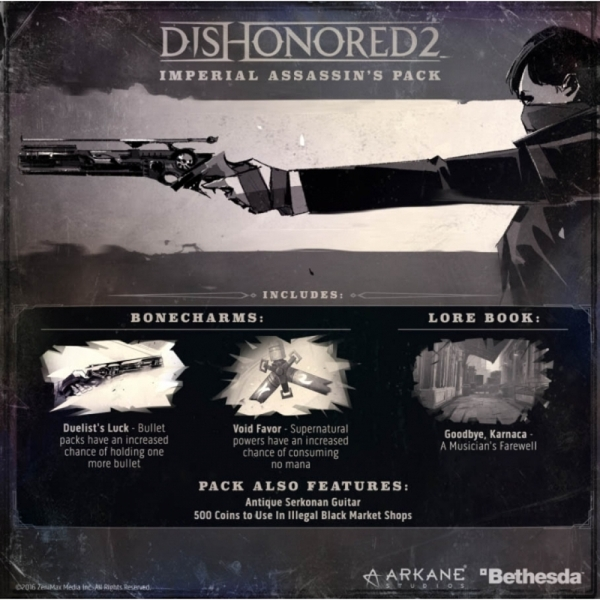 Dishonored 2 Limited Edition (Imperial Assassin's DLC) PC CD Key Download  for Steam