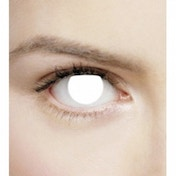 Ex-Display Blind White 1 Month Halloween Coloured Contact Lenses (MesmerEyez XtremeEyez) Used - Like New