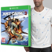 Just Cause 3 Xbox One Game + T-Shirt and Mini Magnetic Rico
