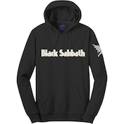 Black Sabbath - Logo & Daemon Men's Large Pullover Hoodie - Black