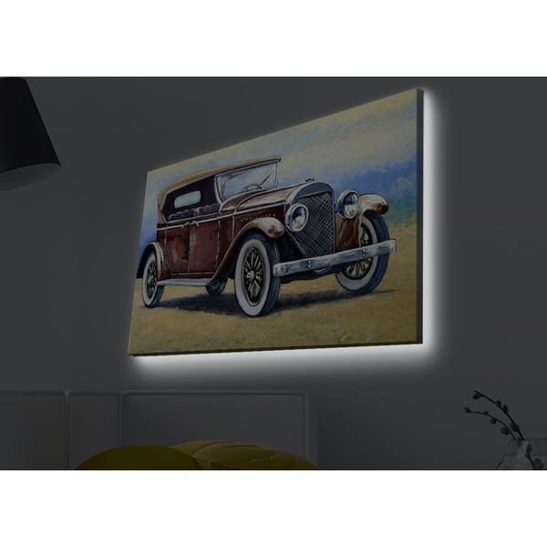 4570MDACT-010 Multicolor Decorative Led Lighted Canvas Painting