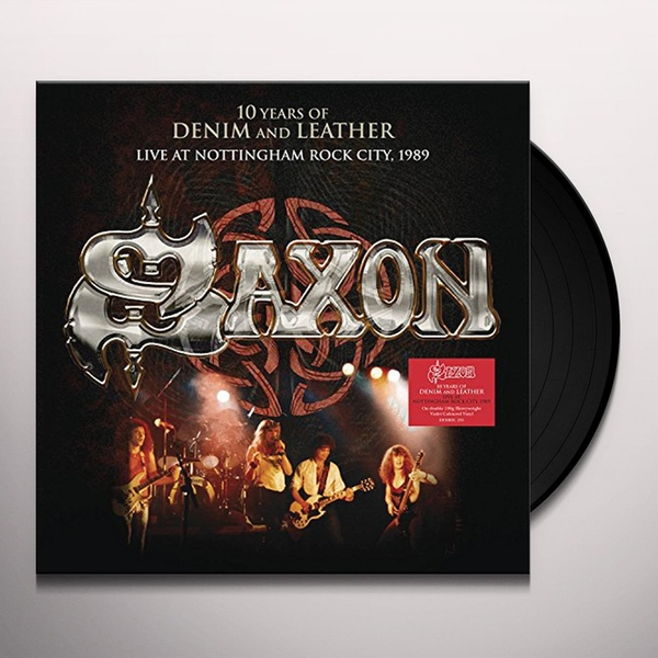 Saxon - 10 Years Of Denim And Leather Live 1990 Vinyl