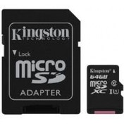 Kingston (64GB) microSDXC Class 10 UHS-I 45MB/s Read Card with Adapter