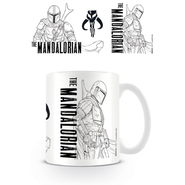 Star Wars - Star Wars: The Mandalorian (Line Art) Mug