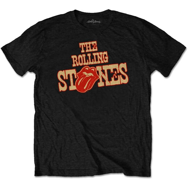 The Rolling Stones - Wild West Logo Unisex X-Large T-Shirt - Black