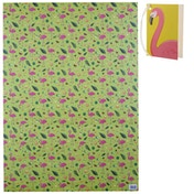 Tropical Flamingo & Pineapple Wrapping Paper
