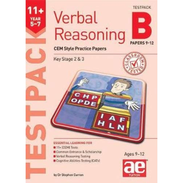 11+ Verbal Reasoning Year 5-7 CEM Style Testpack B Papers 9-12 CEM Style Practice Papers Mixed media product 2019