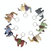Sass & Belle Vintage Mini Elephant Key Ring  (1 Supplied)