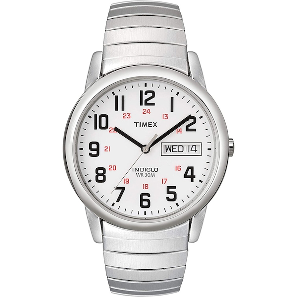 Timex T20461 Mens Easy Reader Watch with Stainless Steel Strap