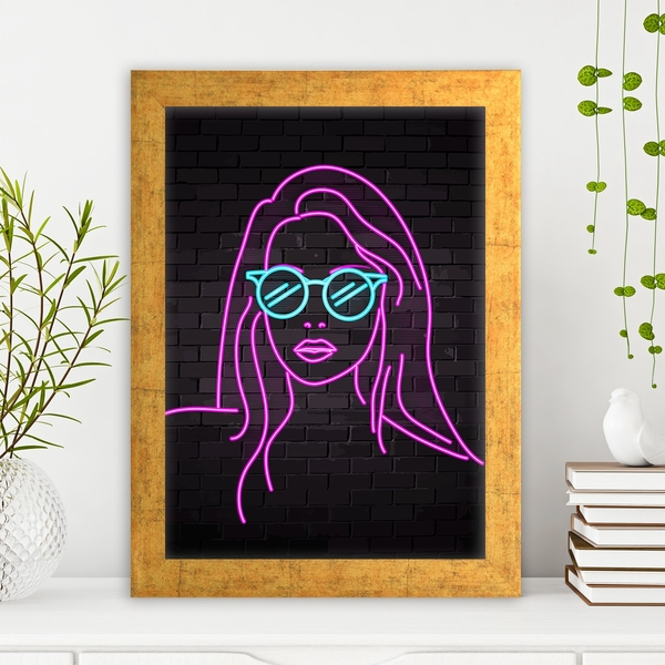 AC1060729970 Multicolor Decorative Framed MDF Painting