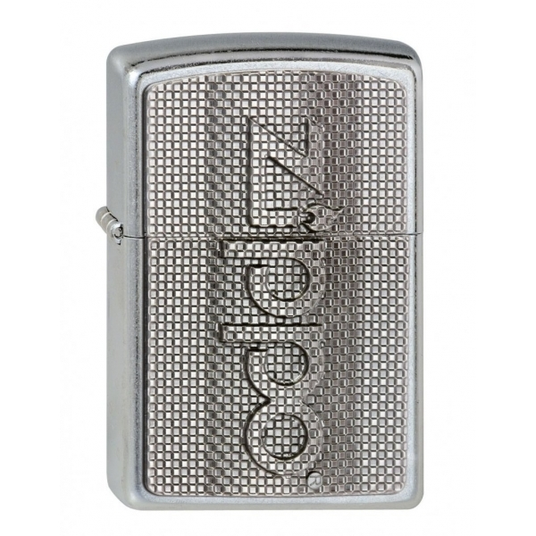 Zippo Unisex Adult Script Emblem Windproof Pocket Lighter Chrome