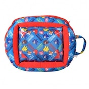 Sonic Beanie Universal Protective Case Cover with Zip Closing for 7 to 10 inch Tablet Blue/Red