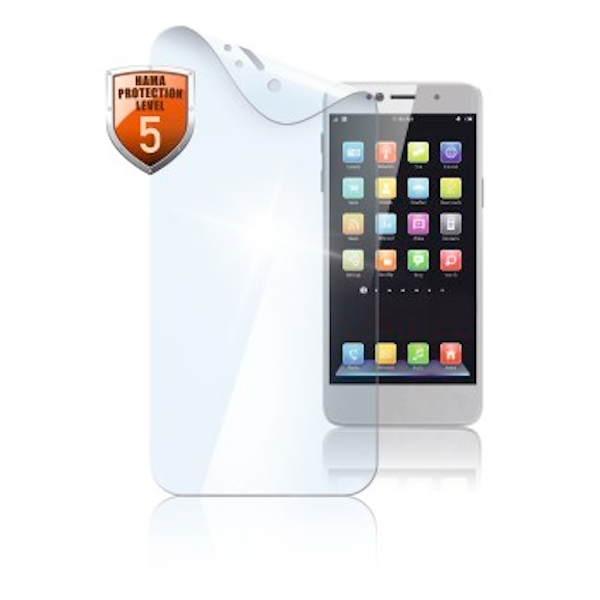 Hama 00178937 Y6 Screen Protector for Huawei Y6, Dust Resistant, Transparent, Pack of 2