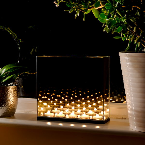 Tea Light Infinity Candle Mirror Box | M&W - Image 1