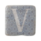 Letter V Coasters By Heaven Sends