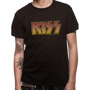 Kiss - Vintage Logo Unisex T-shirt Black XX-Large