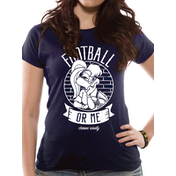 Looney Tunes - Football Women's Medium Fitted T-Shirt - Blue