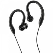 JVC HAEC10B Sports In Ear Headphones with Over Ear Clip Black