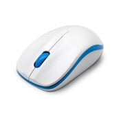 Dynadore Compoint Wireless Ambidextrous 3-Button 1600DPI Optical Mouse with Nano USB Adapter (white/blue)