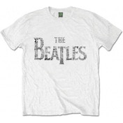 The Beatles Drop T Tickets Mens White Tshirt: X Large