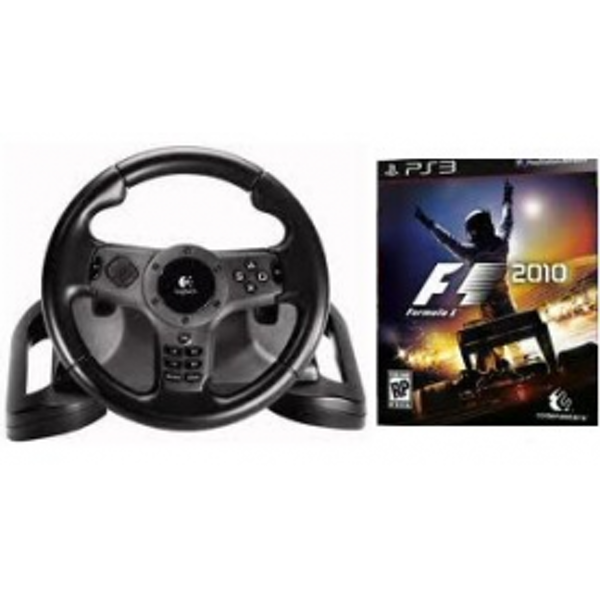 F1 Formula 1 One 2010 Game With Logitech Wireless Driving Force Wheel PS3