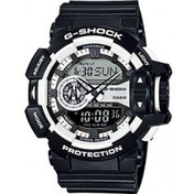 Casio G-Shock Classic Men's Quartz Analogue Watch - Black/White