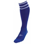 PT 3 Stripe Pro Football Socks Boys Royal/White
