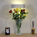 Crystal Glass Tall Flower Vase | M&W - Image 3