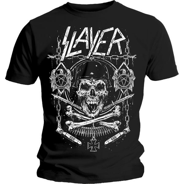 Slayer - Skull & Bones Revised Unisex Large T-Shirt - Black