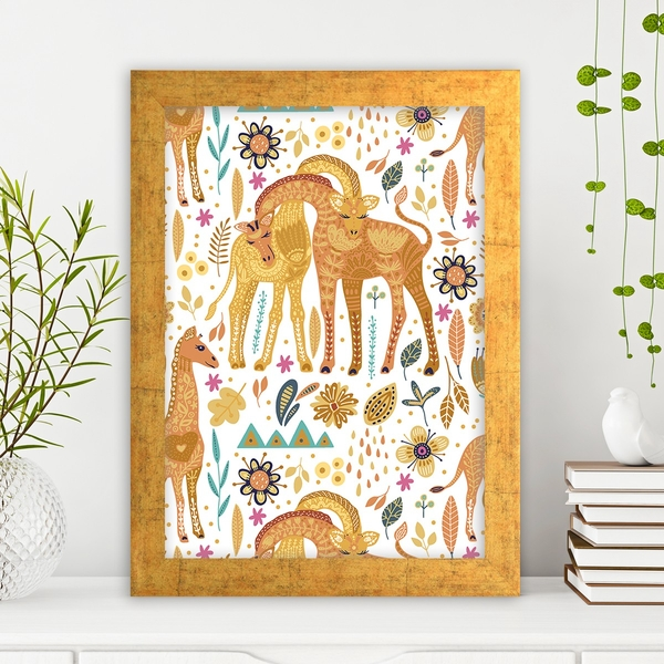 AC31482372125 Multicolor Decorative Framed MDF Painting