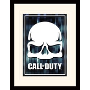 Call of Duty - Fragmented Skull Mounted & Framed 30 x 40cm Print