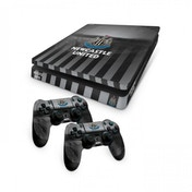 Official Newcastle United FC PS4 Slim Console Skin and 2x Controller Skin Combo Pack