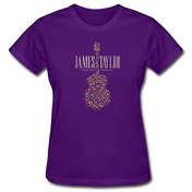James Taylor - 2018 Tour Flower Guitar Women's Large T-Shirt - Purple