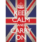 Keep Calm and Carry On - Union Jack Postcard