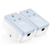 TP-LINK AV500 TL-PA451 500Mbps Powerline Adaptor with AC Pass Through Starter Kit (Twin Pack)  UK Plug