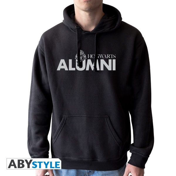 "Harry Potter - ""Hogwarts alumni"" Mens without zip Hoodie - Black"