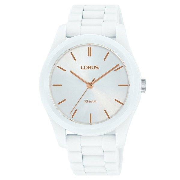 Lorus RG255RX9 Mens Soft Touch White Silicone Strap Watch