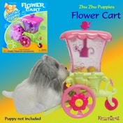 Zhu Zhu Puppies Flower Cart