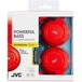 JVC HASR185RN Powerful Bass Headphones with Remote Mic Red - Image 2