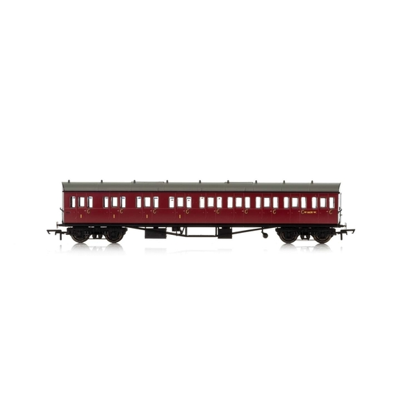 Hornby BR Collett 57' Bow Ended E131 Nine Compartment Composite (Left Hand) W6630W Era 4 Model Train