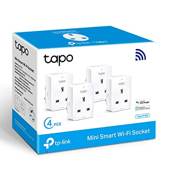 TP-Link Tapo Smart Plug Wi-Fi Outlet 4-Pack UK Plug
