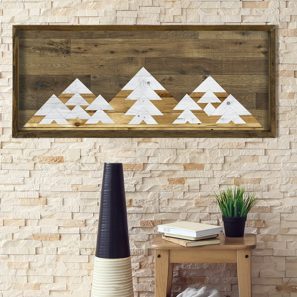 TAH017 Brown White Decorative Framed MDF Painting