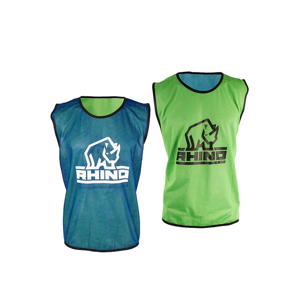 Rhino Reversible Training Vests Royal/Green - Large/XLarge