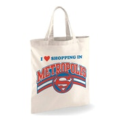 Superman - Shopping In Metropolis Tote Bag - White