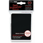 Ultra Pro Black Deck Protector Sleeves - 50 Sleeves