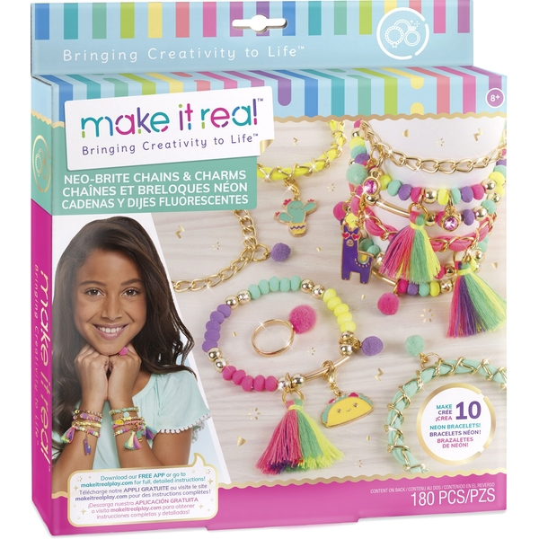 Make It Real Neo-Brite Chains & Charms Activity Set